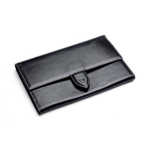 250ba2928dd2 Classic Smooth Black Travel Wallet. Aspinal of London ...