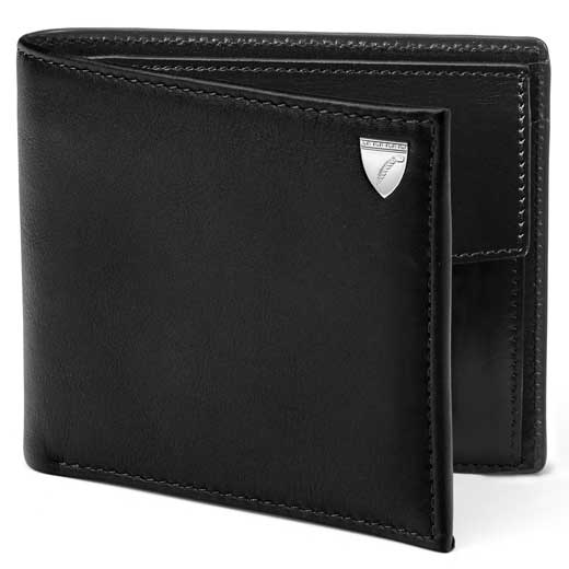 Black Shield Wallet with Coin Case