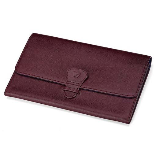 0dd9300ab717 Classic Burgundy Saffiano Travel Wallet. Aspinal of London ...