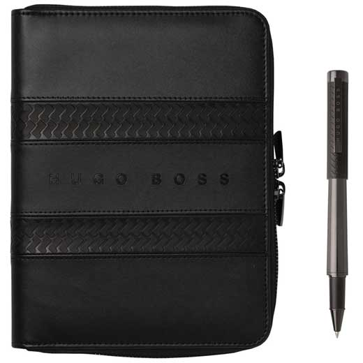 Black Tire A5 Conference Folder and Rollerball Pen Set