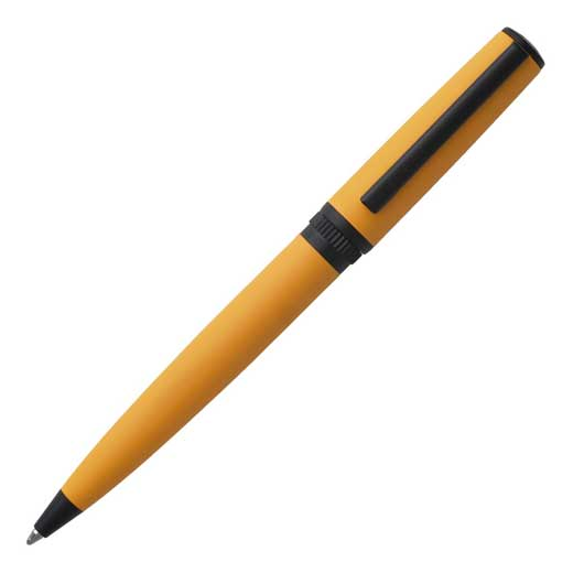 Yellow Gear Matrix Ballpoint Pen