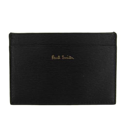 Textured Leather Black Card Holder