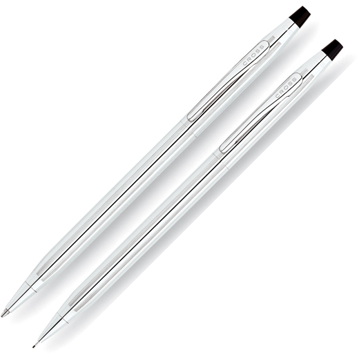 Ballpoint Pen and Pencil 0.7mm Set - Classic Century Lustrous Chrome