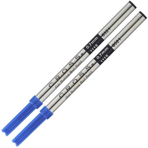 Pack of Two Selectip Gel Rollerball Refills in Blue