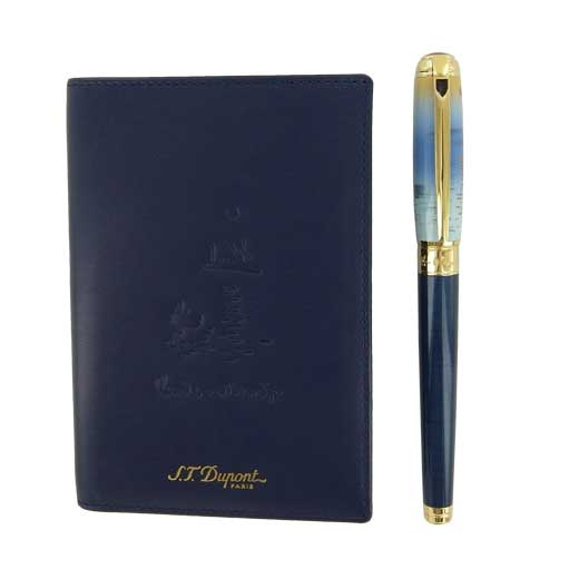 Line D Monet Fountain & Passport Holder Pen Set