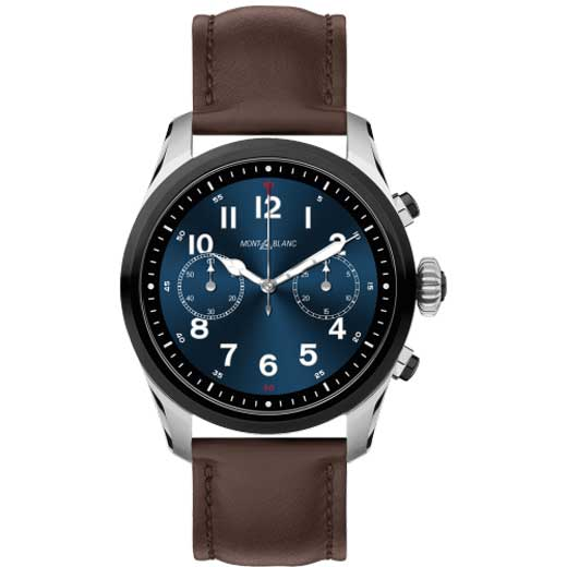 Summit 2 Brown Smooth Leather Smartwatch
