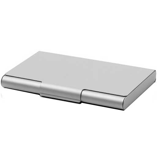 Silver Aluminium Card Box