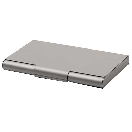 Gun Metal Grey Aluminium Card Box