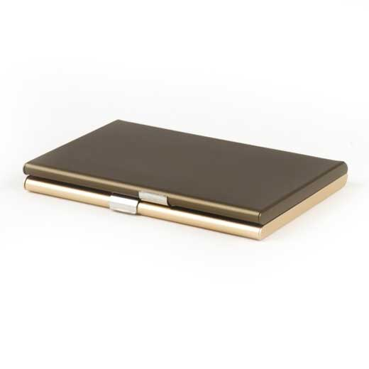 Fine Light Gold 2 Compartment Card Box with Mirror