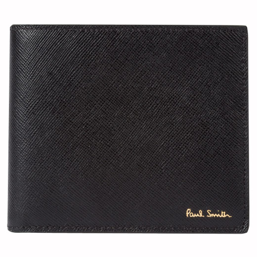 Men's Black 'Mini' Print Interior 8CC Billfold Wallet