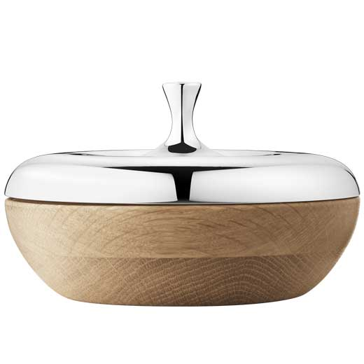 Stainless Steel & Oak Wood HK Turnip Bonbonniere