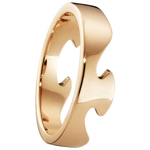 Rose Gold Fusion End Ring