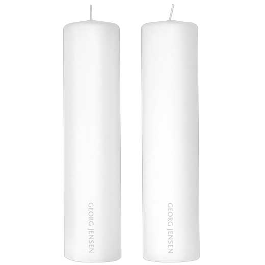 White Paraffin Pack of 2 Candles
