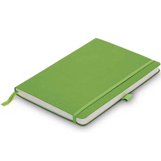 Green A6 Softcover Ruled Notebook