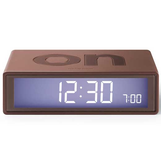 Flip Brown Alarm Clock