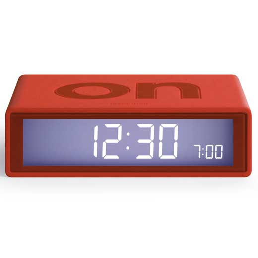 Flip Red Alarm Clock