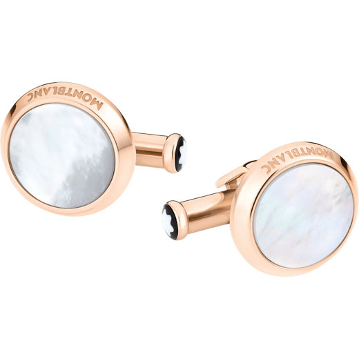 Meisterstück Rose Gold PVD and Mother-Of-Pearl Cufflinks