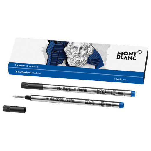Writers Edition Homer Greek Blue Rollerball Refills (M)
