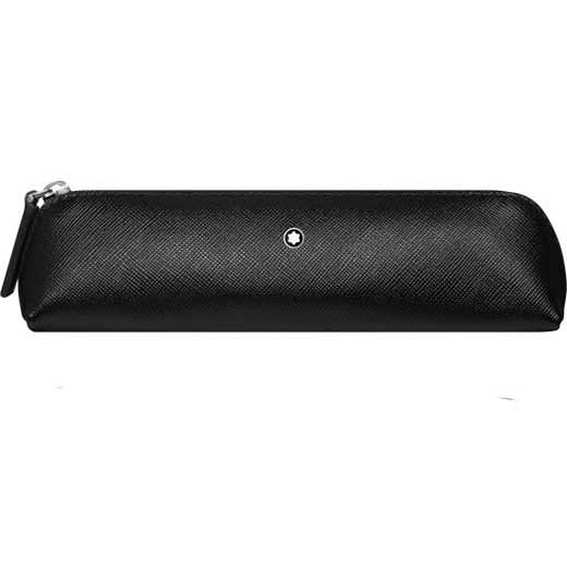 Sartorial Black 2 Pen Pouch Zip Top