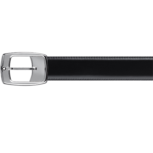 Rectangular Pin Buckle Reversible Leather Belt