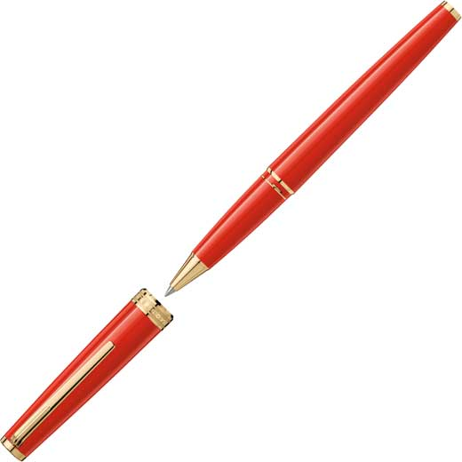 Red PIX Gold-Coated Rollerball Pen