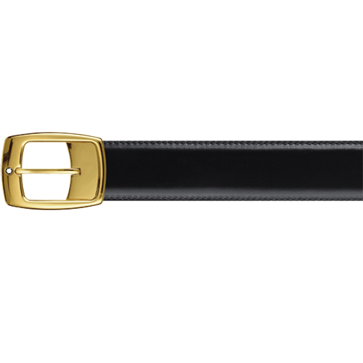 Yellow Gold Plated Pin Buckle Reversible Leather Belt