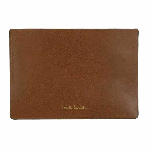 Smooth Leather Tan Card Holder