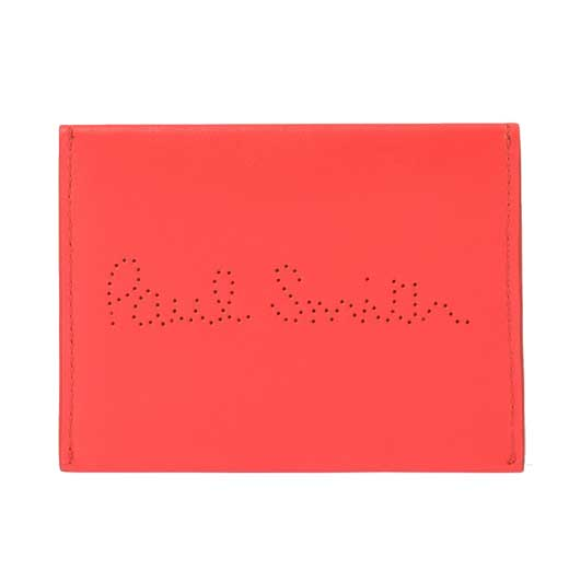 Smooth Leather Coral Card Holder