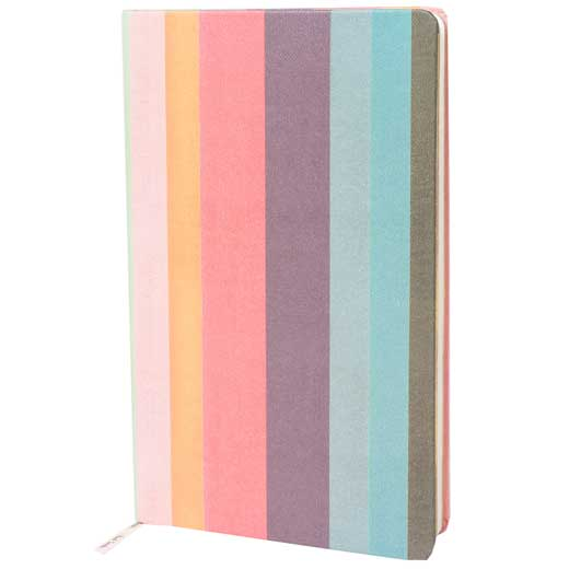 Medium Artist Stripe Lined Notebook