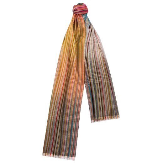 Men's Signature Stripe Gradient Wool-Blend Scarf