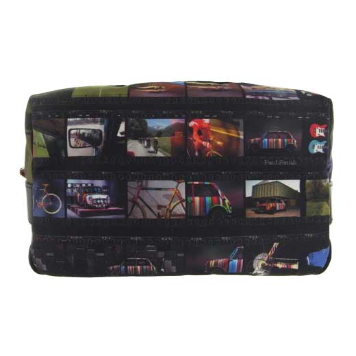 Men's Black Film Strip Wash Bag