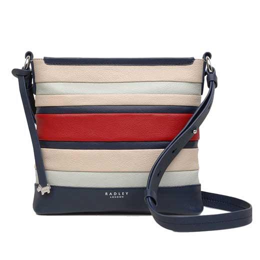 7f961c2b603f Radley Eaton Hall Medium Red Stripe Multiway Bag