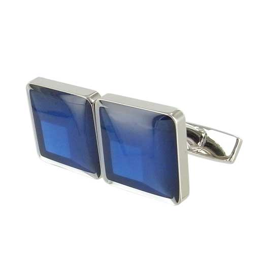 Dale Blue Gradient Enamel Inlay Square Cufflinks