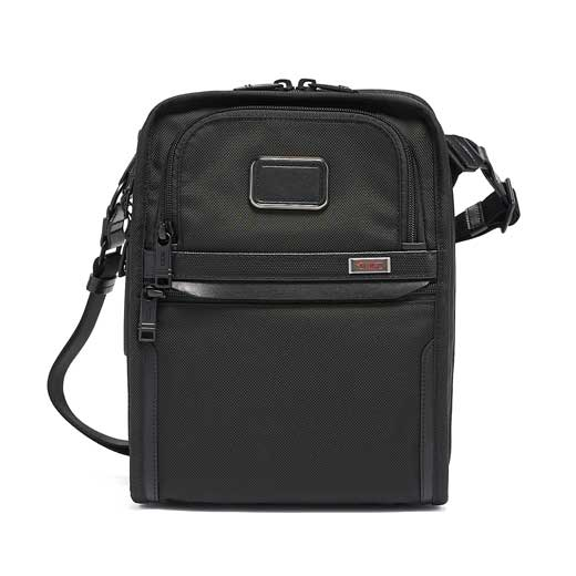 Black Alpha 3 Organiser Cross Body Bag