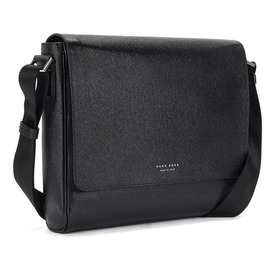 03e5147da7 Hugo Boss Black Leather Signature Messenger Bag