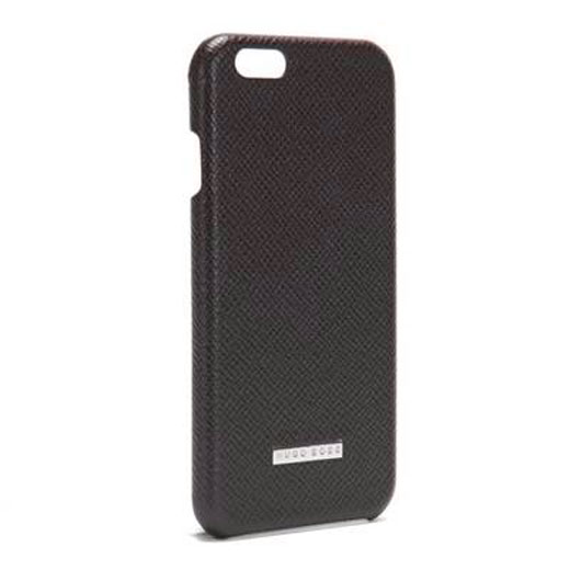 outlet store f1eea 0ff2c Hugo Boss iPhone 6 Plus Brown Leather Case