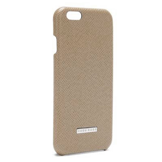 best loved e3f09 57bfd Hugo Boss iPhone 6 Plus Beige Leather Case