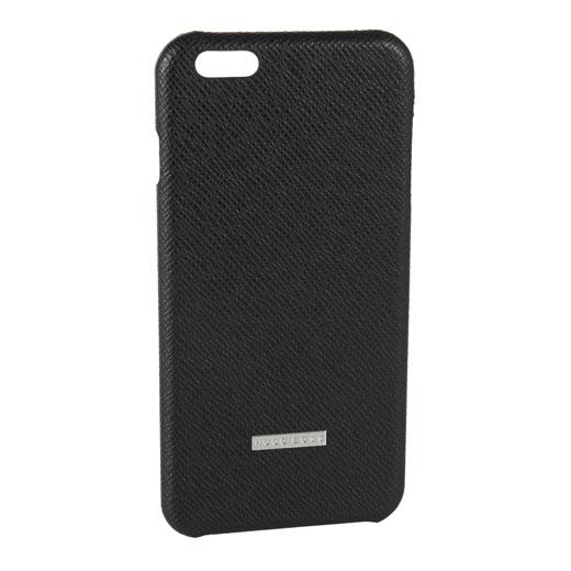 best sneakers 18363 6f735 Hugo Boss iPhone 6 Plus Black Leather Case