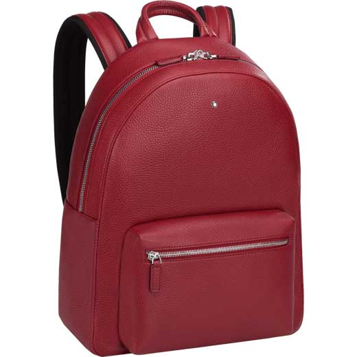 2839e5806083 Montblanc Meisterstück Soft Grain Small Red Backpack   Wheelers Luxury Gifts