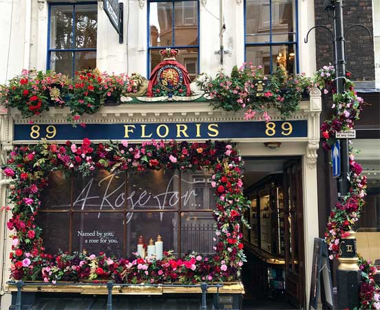 This is the Floris London store in 2019