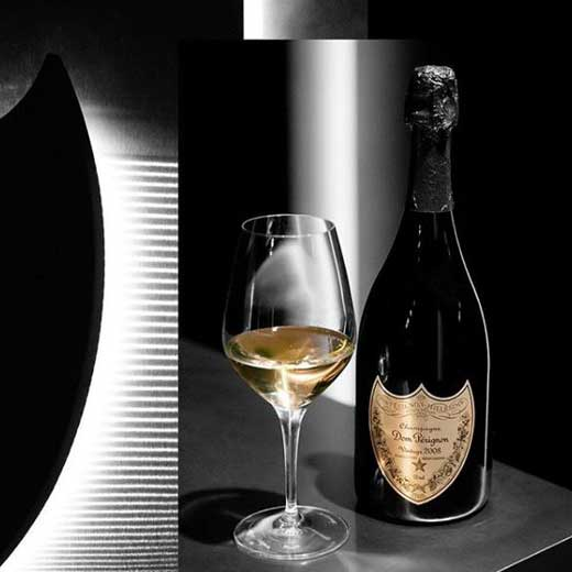 Dom Perignon glass of champagne