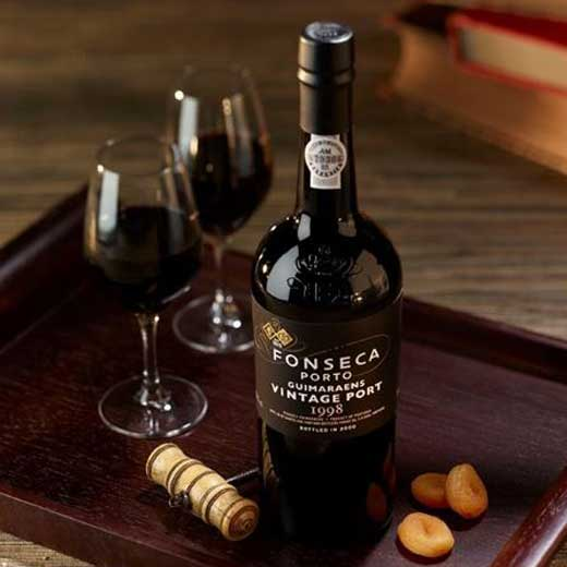 Vintage fonseca port with glasses