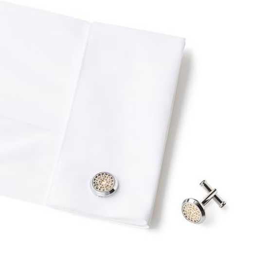 Montblanc cufflinks in shirt