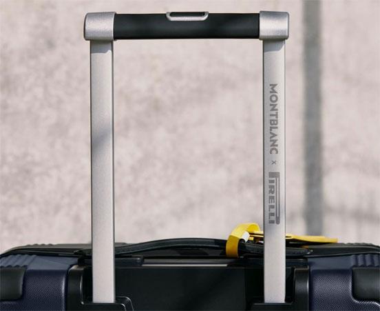 Montblanc x Pirelli cabin trolley handle