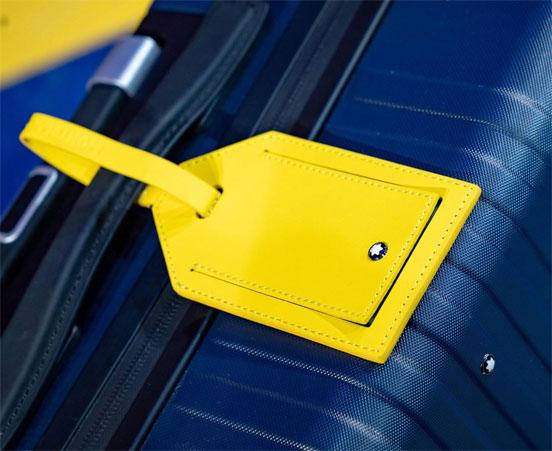 Montblanc x Pirelli cabin trolley luggage tag