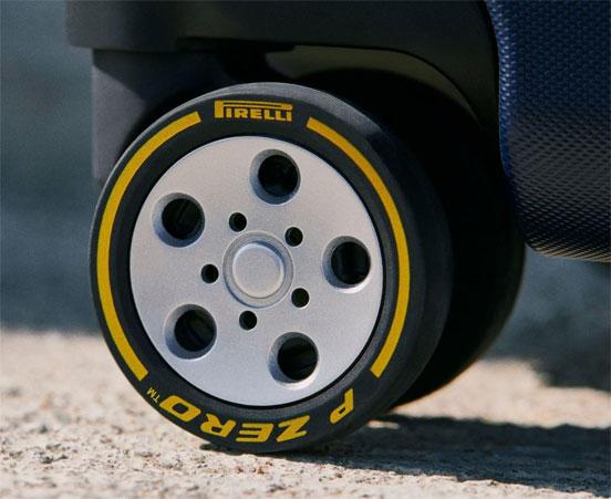 Montblanc x Pirelli cabin trolley wheels