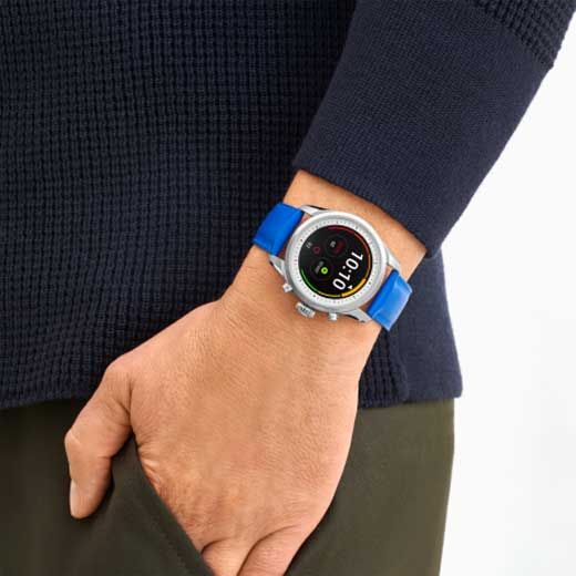 Montblanc summit 2 blue smartwatch