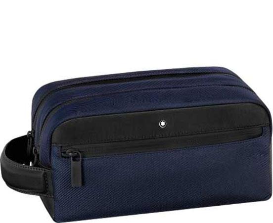 Montblanc navy Nightflight wash bag