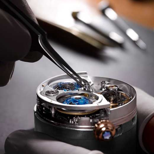 Montblanc watch being made